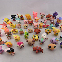 10pcs Littlest Pet Shop Cute Cat Dog Animal Figures Collection kid Toy Pop