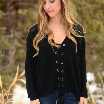 Everyday Elegance Sweater- Black