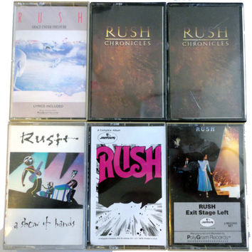 RUSH cassette tape LoT vintage music cassettes collection Geddy Lee