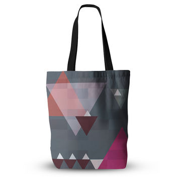 "Suzanne Carter ""Geo II"" Gray Geometric Everything Tote Bag"