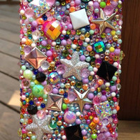 iPhone 5 CASE -- Iridescent Pink/Green Glamourbomb