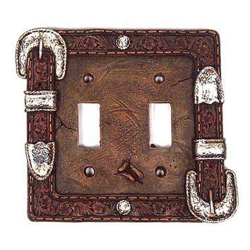 Western Buckle Toggle Light Switch Plate Cover (Double Switch Plate)