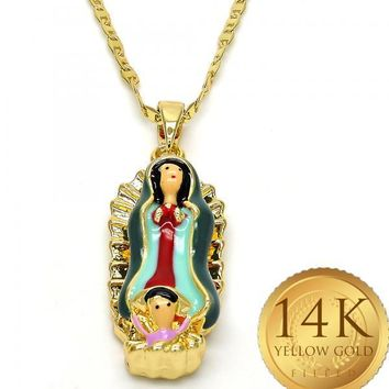 Gold Tone Women Guadalupe Fancy Necklace, by Folks Jewelry