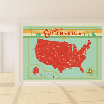 Anderson Design Group's Explore America Mural wall decal