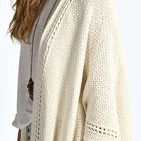 Orla Open Stitch Boarder Knitted Cape