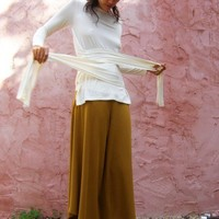 Woman warrior top / Wrap shirt by SHIHAR on Etsy