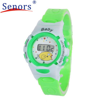 Creative Watches Unisex Silicone Colorful Boys Girls Students Time Electronic Digital Wrist Sports Watch Children