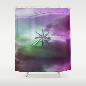 WIND ROSE II Shower Curtain by Maria Moreno
