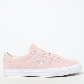 ESBONDI5 Converse One Star Premium Suede Low Top Pink and White Shoes