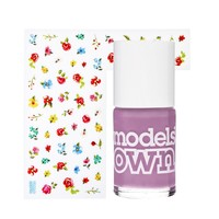 Models Own Sticky Fingers Polish & Stickers - Pastel Petals Lilac