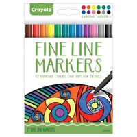 Crayola® Aged Up Coloring 12ct Fineline Markers - Classic
