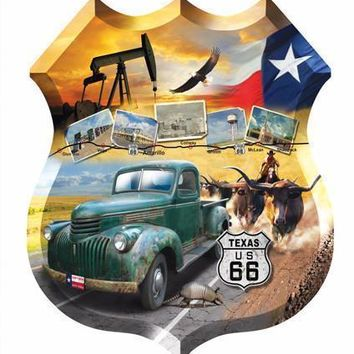 Texas 66 Jigsaw Puzzle 1000pc Shaped Jigsaw Puzzle