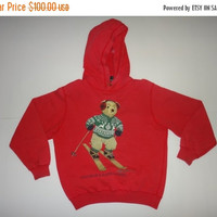 New Year Sale Vintage Polo Bear Ski Ralph Lauren Snow Beach Sweater Hoodie Hip Hop Kid