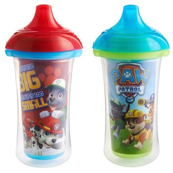 Munchkin Paw Patrol Click Lock Insulated Sippy Cup 2 Pack - 9 Ounce - Blue/Red