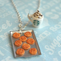 peanut butter cookies and starbucks necklace