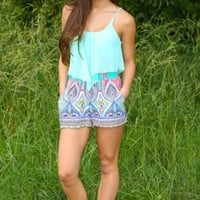 Thinking Simply Crop Top-Mint