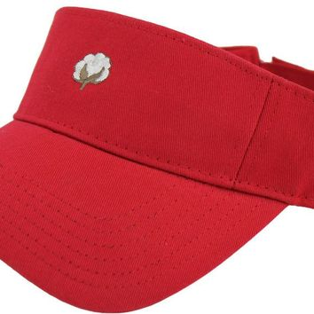 The Boll Visor in Red by Cotton Brothers - FINAL SALE