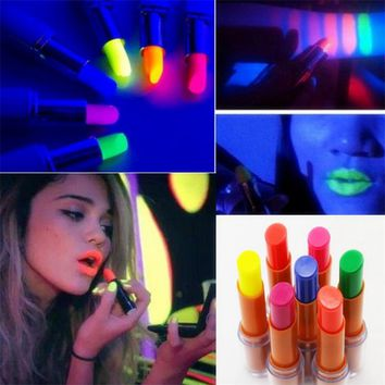 Waterproof Lipstick Tint Shine Shiny Lip Stick Gloss Batom Pencil Fluorescent KTV Bar Party Nightclub Luminous In The Dark Queen