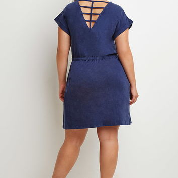 Plus Size Caged-Back Drawstring Dress | Forever 21 PLUS - 2000174394