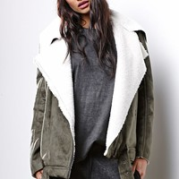 Some Days Lovin Faux Sherpa Coat - Womens Jacket - Tan