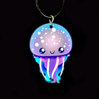 Jellyfish Acrylic Necklace
