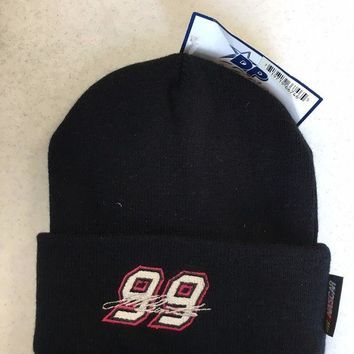MDIGOK8 BRAND NEW MEN'S JEFF BURTON #99 BLACK NASCAR KNIT HAT SHIPPING