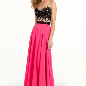 Two-Tone Lace Applique Ballgown from Camille La Vie and Group USA