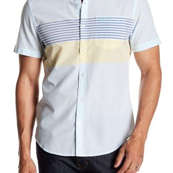 DCCKHB3 Original Penguin | Horizontal Engineered Stripe Heritage Slim Fit Shirt