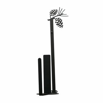 Pinecone - Paper Towel Holder Holder Vertical Wall Mount