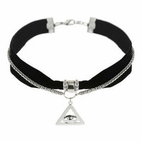 Velvet Eye Choker Pack - Black