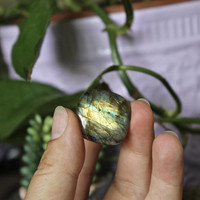 High Quality Labradorite Cabochon, Rounded Square Gemstone Cab for Jewelry Making, Wire Wrapping, Electroforming, Soldering
