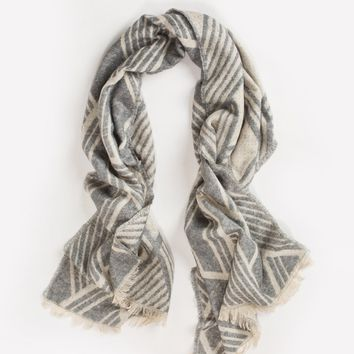 Maxine Grey Abstract Striped Scarf