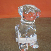 Waterford Crystal Labrador Dog/Puppy Christmas Gift Made in Ireland, Art Glass Figurine, Vintage, (Dog-Sold, Puppy still Available)