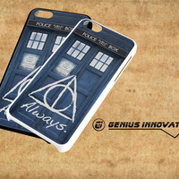 Tardis Doctor Who Deathly Hallows Always Harry Potter Samsung Galaxy S3 S4 S5 Note 3 , iPhone 4(S) 5(S) 5c 6 Plus , iPod 4 5 case
