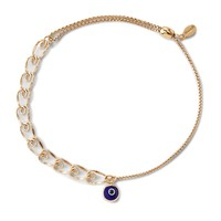 Evil Eye Heart Pull Chain Bracelet