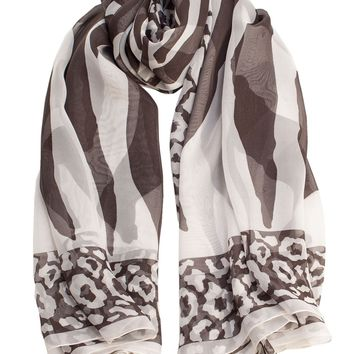 Diana-Sheer Silk Oversized Scarf/Shawl