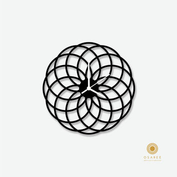 Spirograph Inspiring wall clock Circular Abstract Art Designer Wall Clock