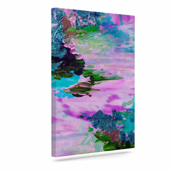"Ebi Emporium ""On Cloud Nine - 4"" Pink Teal Canvas Art"