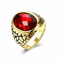 Gift Shiny New Arrival Jewelry Stylish Men Titanium Accessory Strong Character Ring [10783254851]
