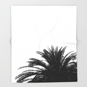 Palm tree Throw Blanket by ARTbyJWP
