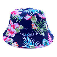 Vaycay Bucket Hat in Black Floral