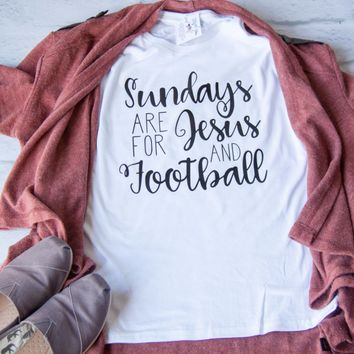 Sundays are for Jesus and Football Classic Short Sleeve Shirt