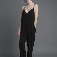 Strappy Jumpsuit in Black