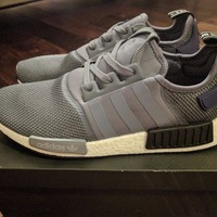 Adidas NMD R1 Onix Core Black Georgetown Grey/Blue S76842 Boost Size 12