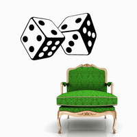 Dices Wall Decal Game Casino Decals Wall Vinyl Sticker Interior Home Decor Vinyl Art Wall Decor Bedroom SV5857