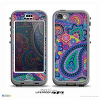 The Bold Colorful Paisley Pattern Skin for the iPhone 5c nüüd LifeProof Case
