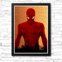 Spiderman City Poster / Print High Quality 225gr Coated Paper (Special Design)