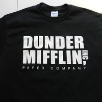 Dunder Mifflin Inc. Papaer Company T Shirt Tee Dwight Schrute The Office T.V. Retro Beets Farm Funny Show