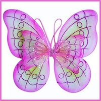 1 X Pink Butterfly Costume Dress-up Wings