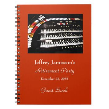 Retirement Party Guest Book Antique Organ Keyboard